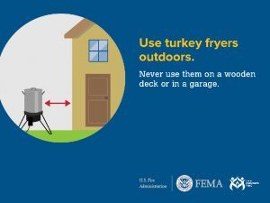 Thanksgiving turkey fryer safety tip