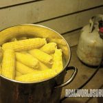 Cooking corn for corn wine