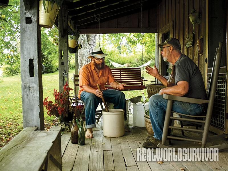Author and father share tips on making corn wine.