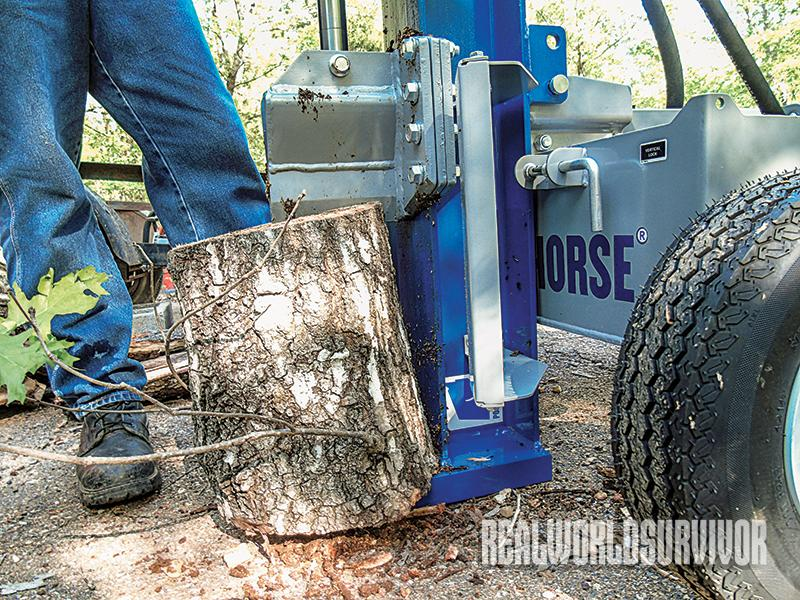 Northern Tool's Powerhorse can be effectively used in the vertical or horizontal plane.