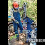 Using Northern Tool's Powerhorse on the vertical plane means not having to lift logs from the ground.