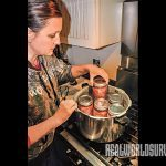 Jars of venison for pressure canning cannot touch