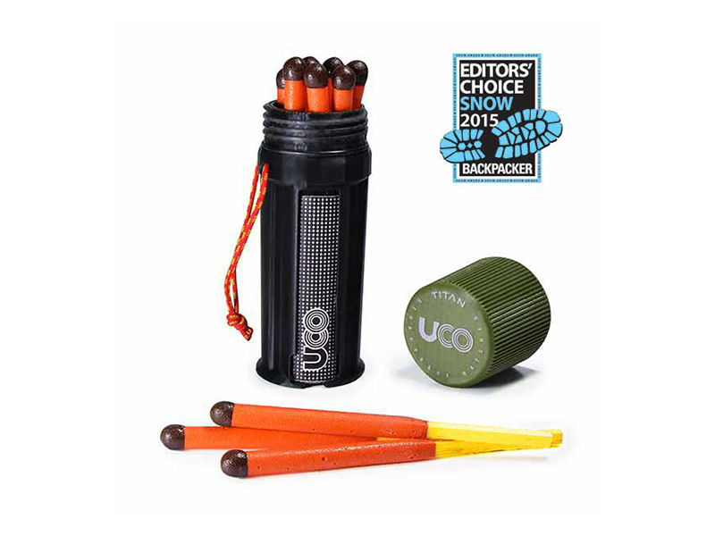 The Titan Stormproof Match Kit can light for up to 25 seconds.