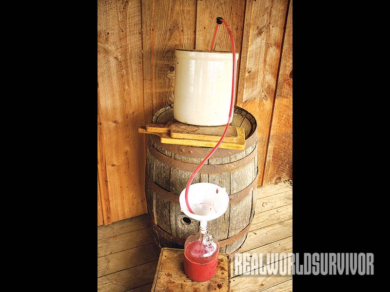 winemaking, at home winemaking, siphoning wine