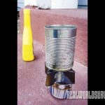 diy camp stove, camp stove, stove, diy project, finished camp stove