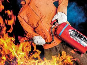 fire extinguishers, flames, fire safety tips