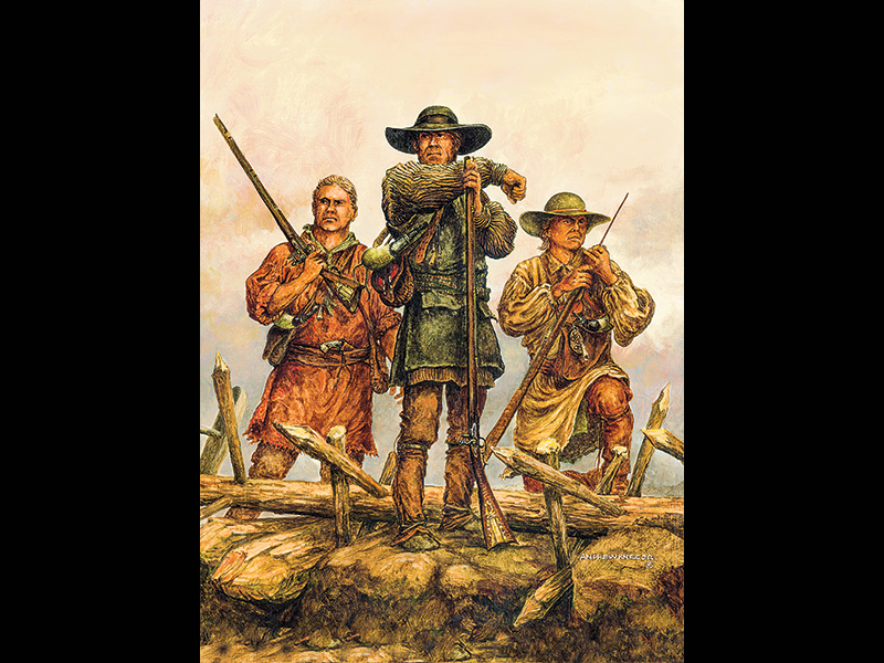 One Kentucky Rifleman, Kentucky long rifle, long rifles