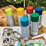 Materials for holiday Mason Jars