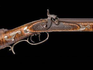 Kentucky long rifles, rifles, percussion lock