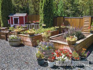 DIY project, raised bed, garden