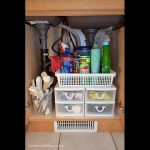 home organizing project, sink organizer