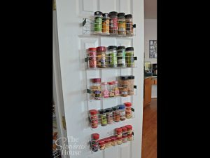 home organizing project, spice storage