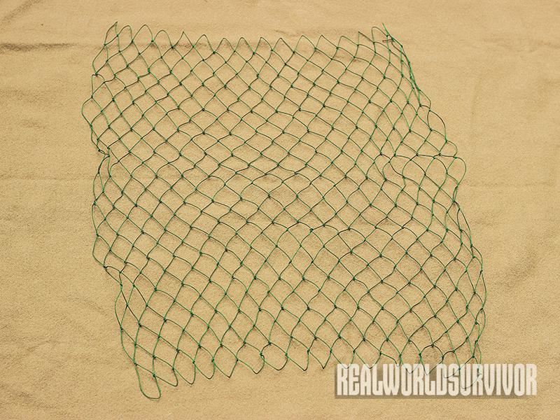 pocket survival net, finished net, diy project, diy survival gear, trapping, fishing