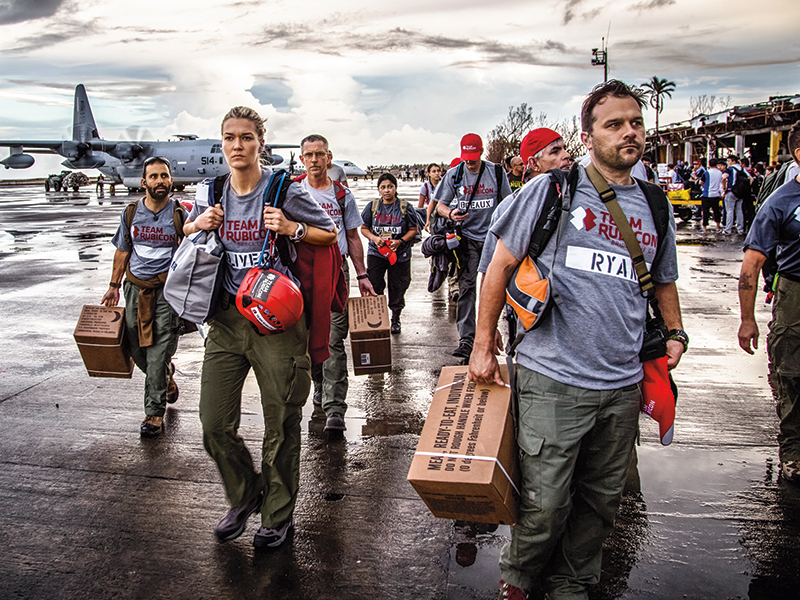 Team Rubicon volunteers participating in disaster relief in the Philippines.