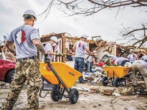 Team Rubicon volunteers participating in disaster relief in Oklahoma.
