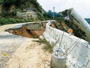 Typhoons can create dangerous mudslides.
