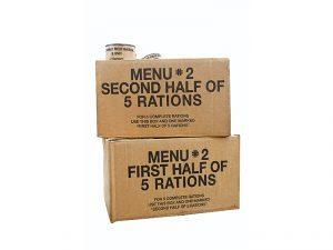 winter shelter kit, MREs
