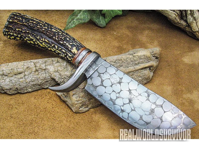 With a guard and blade made from canister ball bearing steel, Neilson's stag-handled, deep-bellied field knife is as functional as it is a beautiful work of art.