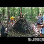 how to build a debris hut step by step