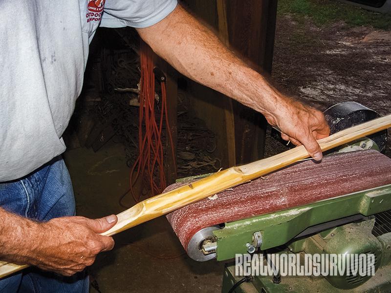 diy, diy project, longbow, bow and arrow, sanding bow, sanding longbow
