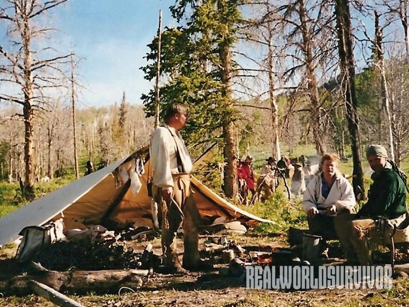 backwoods, tent, woodsman