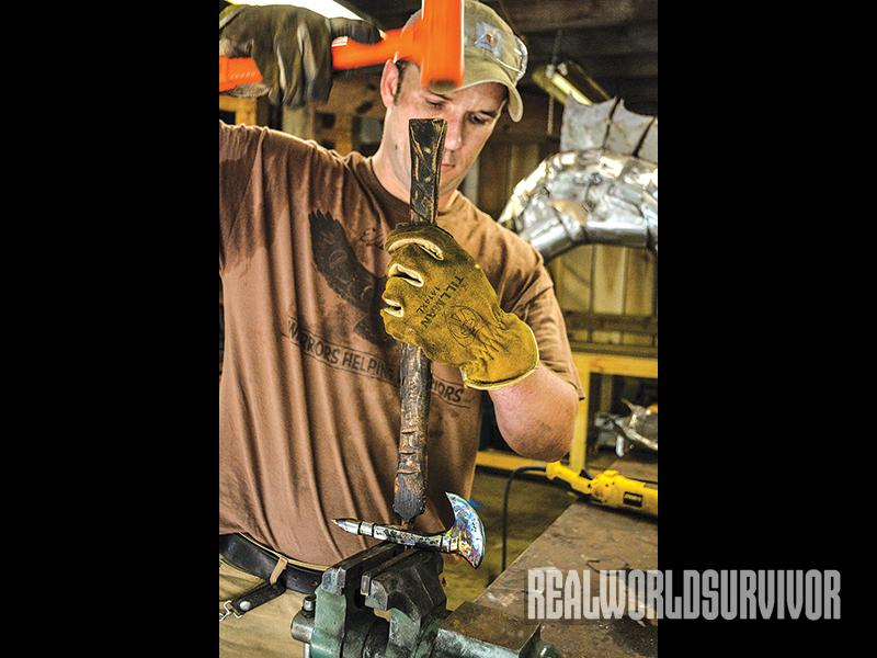 Elder Heart, veterans, art, tomahawks, tomahawk handle