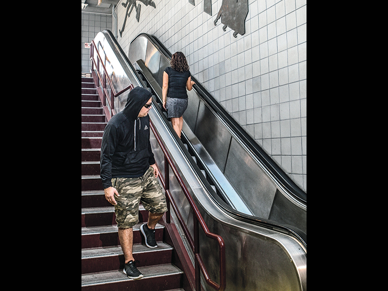 Transit Attack Escape Tactics escalator