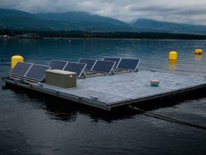 Floating Solar Farm, water