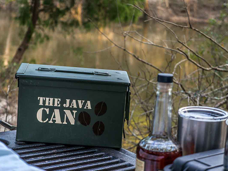 camping, coffee, Java Can, espresso