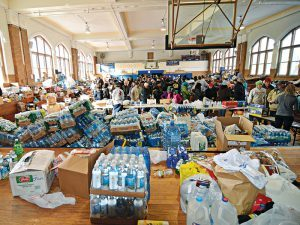 FEMA, Food Reserve, water bottles, food storage