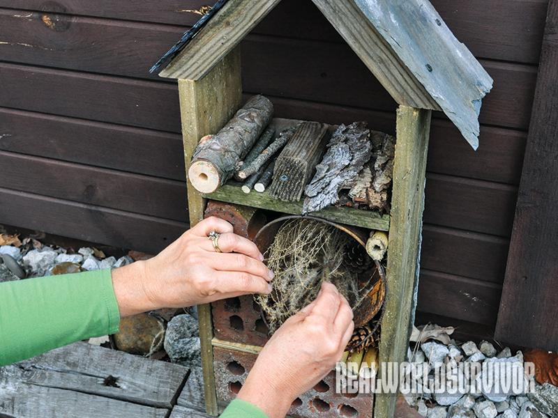 DIY, garden, yard, nesting, insects, bugs, bug house, bug out, furniture, filling rooms