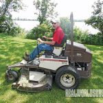 Sean Mallory mowing lawn, lawn mower, tractors, mowers, landscaping,