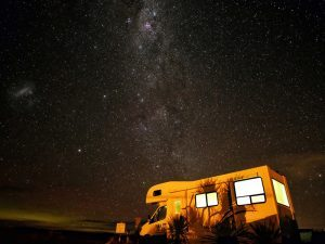 Solar Energy RVs night