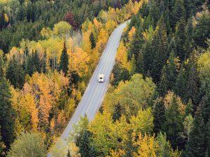 Solar Energy RVs road