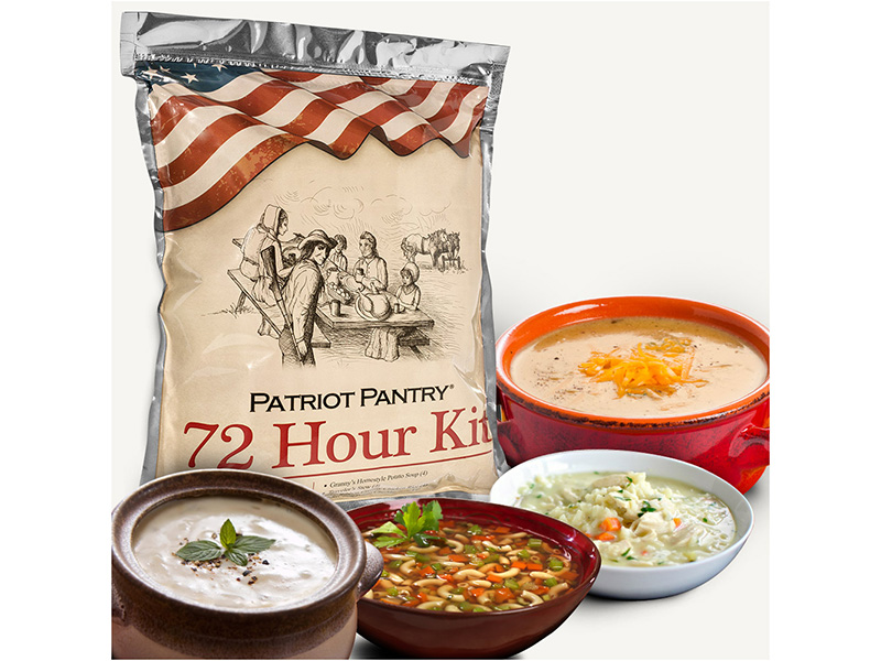 my patriot supply 72-hour freeze-dried food