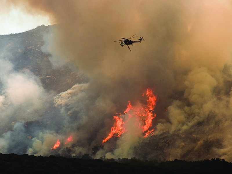 wildfire helicopter