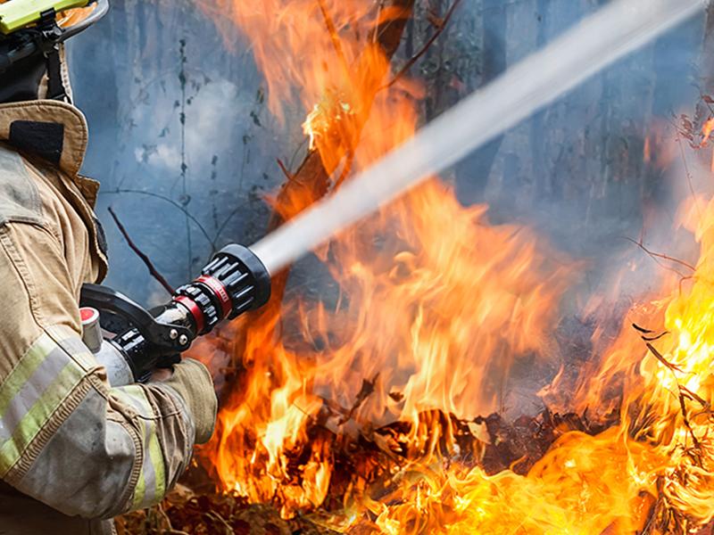 wildfire hose California National Guard
