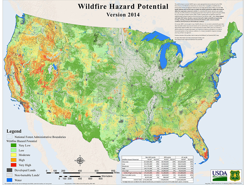 wildfire map