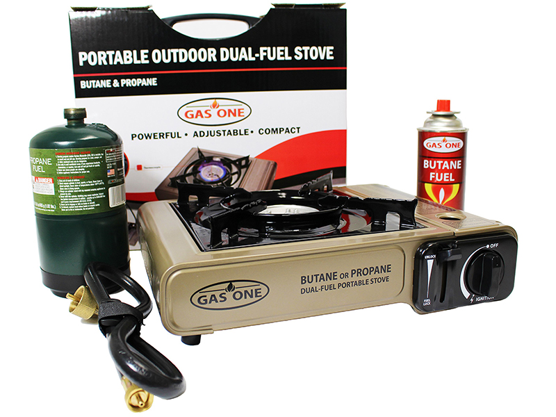 Gas One Dual Fuel Portable Stove camp stove