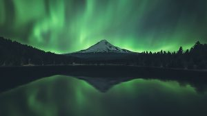 solar storm, northern lights