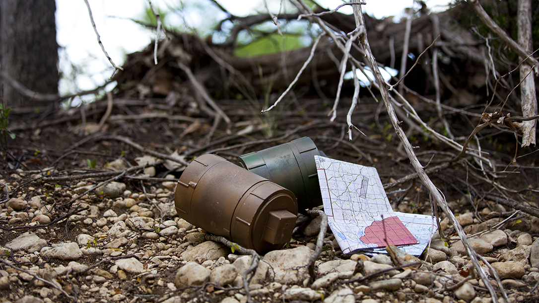 cache, trail, supplies