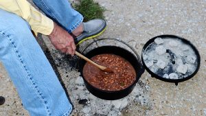 dutch oven, cooking, coals