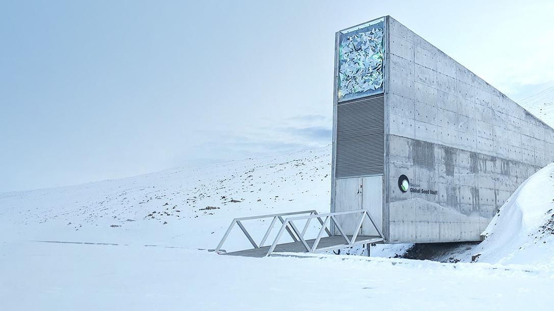 Storing seeds, bank, Svalbard