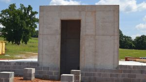 Safe Home tornado rated bunker is designed into the house