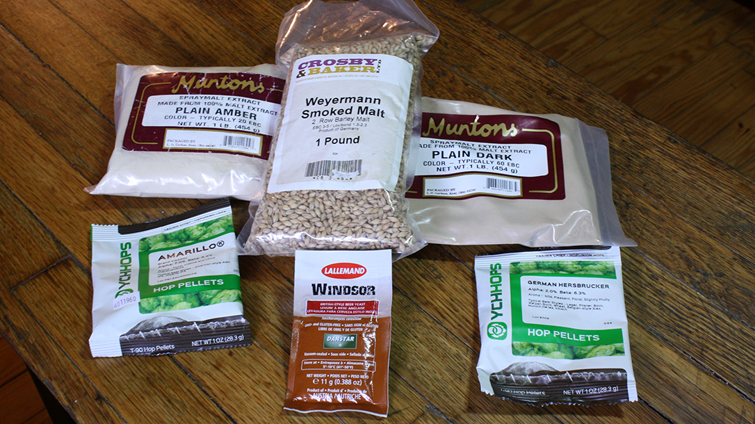 Homebrewing Made Easy the basic packaged ingredients