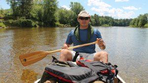 Canoeing paddling canoe river