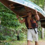 Yolk carrying canoe
