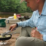 Canoe camping cooking skillet