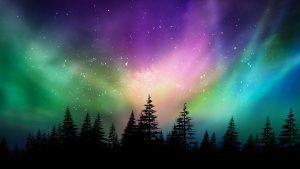 Aurora Borealis Canadian forest EMP