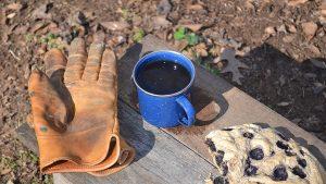 Cowboy Coffee Blueberry bannock